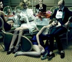 Dinner Party #6  – Miles Aldridge, Woman, Fashion, Erotic, Model, Dinner, Food