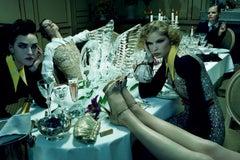 Dinner Party #8  – Miles Aldridge, Woman, Fashion, Erotic, Model, Dinner, Food