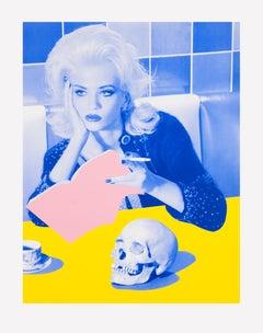 Ex Libris – Miles Aldridge, Woman, Fashion, Erotic, Model, Skull, Book, Blonde