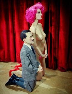 Him (after Cattelan) – Miles Aldridge, Woman, Fashion, Erotic, Nude, Colour, Art