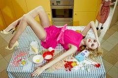 Home Works #4 – Miles Aldridge, Woman, Fashion, Colour, Art, Kitchen, Housewife