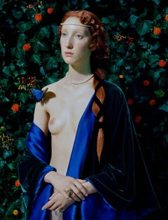 In The Garden – Miles Aldridge, Woman, Fashion, Colour, Art, Garden, Nature