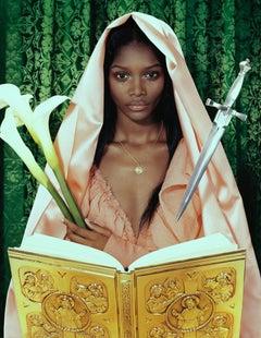 Mystique #1 – Miles Aldridge, Black Model, Fashion, Glamour, Book, Flower, Sword