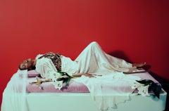 Mystique #2 – Miles Aldridge, Fashion, Glamour, Black Model, Flowers, Sword