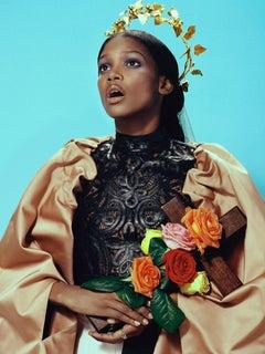 Mystique #3 – Miles Aldridge, Woman, Fashion, Glamour, Flowers, Black model