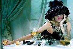 The Pure Wonder #2 – Miles Aldridge, Woman, Lips, Fashion, Dinner, Erotic, Art