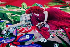 The Rooms #2 – Miles Aldridge, Woman, Fashion, Glamour, Casino, Red, Deck, Cards