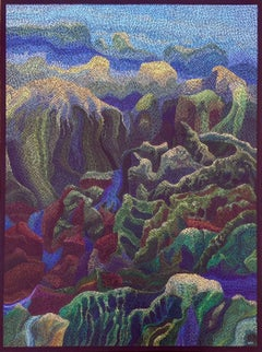 """Sunlight in the Canyon"", Acrylic Paint on Canvas"