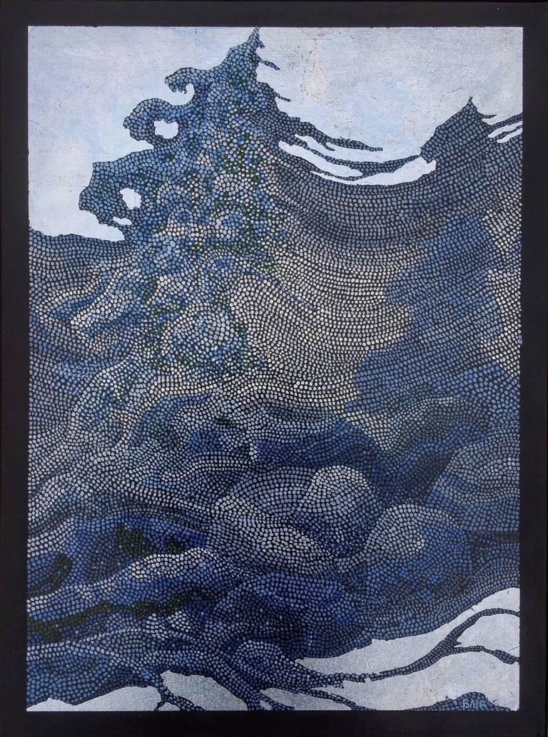 """The Winds in Winter"", Acrylic Paint and Silver Leaf on Canvas"