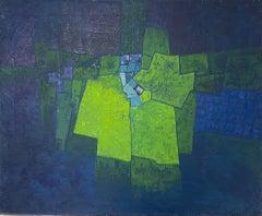 Miles Cole, Icelandic Night, Abstract Art, Original Painting, Contemporary Art