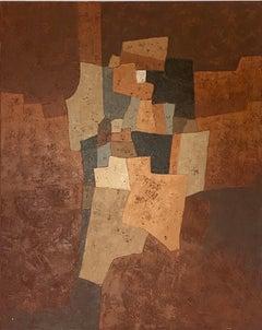 Miles Cole, Pensativa, Abstract Art, Original Oil Painting, Contemporary Art