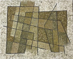 Miles Cole, Squares in a Space, Abstract Geometric Painting, Contemporary Art