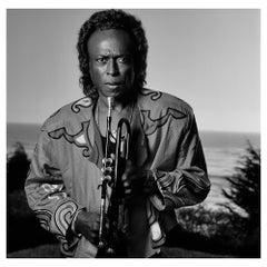 Miles Davis 1989, Lynn Goldsmith, Archival Pigment Black and White Photograph
