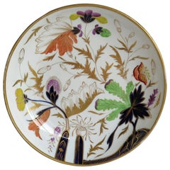 Miles Mason English Georgian Porcelain Deep Plate or Dish Hand Painted