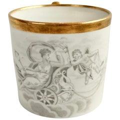 Miles Mason Orphaned Porcelain Coffee Can, White, Bat Printed Minerva