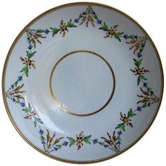 Miles Mason Porcelain Deep Plate or Dish Hand Painted Pattern 153, circa 1805