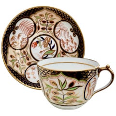 Miles Mason Porcelain Teacup, Provenance, Pine Trees & Bamboo, Regency ca 1810