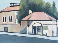 Modernist Jerusalem Synagogue Painting Israeli Architechture