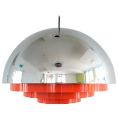 Milieu Maxi Pendant Lamp by Jo Hammerborg for Fog and Mørup, Denmark, 1970s
