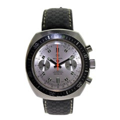 Militaria Stainless Steel Stock Sport Chronograph Manual Wrist Watch, 1970s