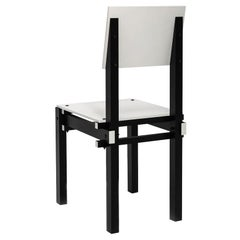 Military Chair in Black and White, De Stijl, Designed in 1923 by Gerrit Rietveld
