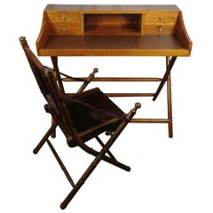 Military Desk with Chair