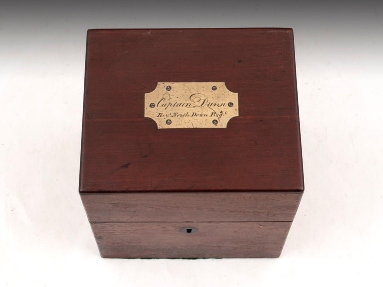 Military Mahogany Decanter Box For Sale 1