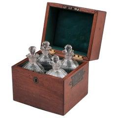 Military Mahogany Decanter Box