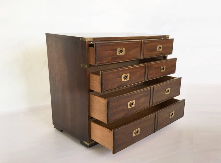 American Military Officer's Campaign Style Bachelor Chest or Dresser For Sale