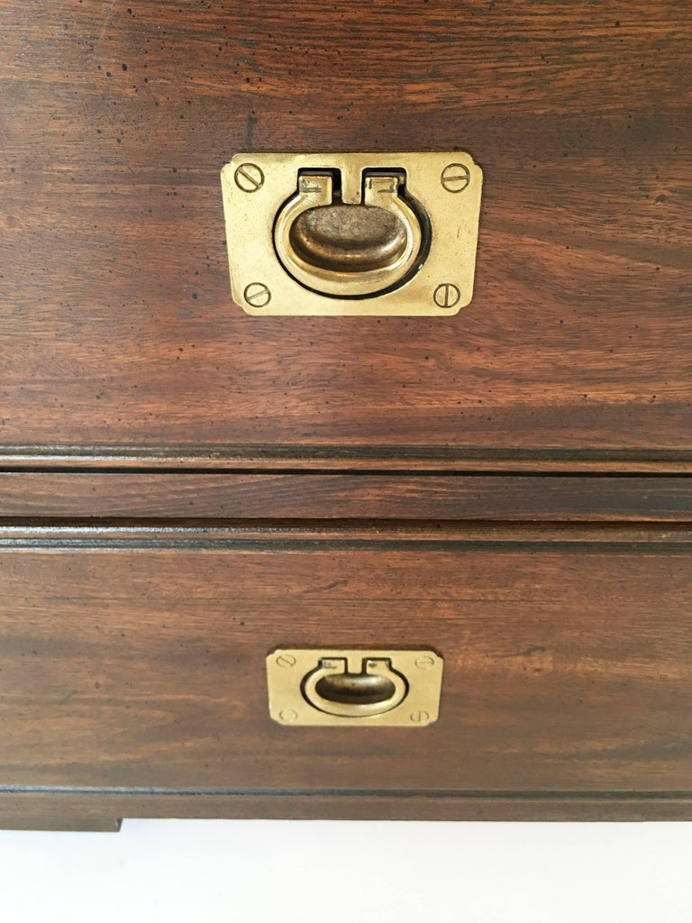 20th Century Military Officer's Campaign Style Bachelor Chest or Dresser For Sale