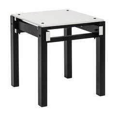 Military Stool in Black and White, De Stijl, Designed in 1923 by Gerrit Rietveld
