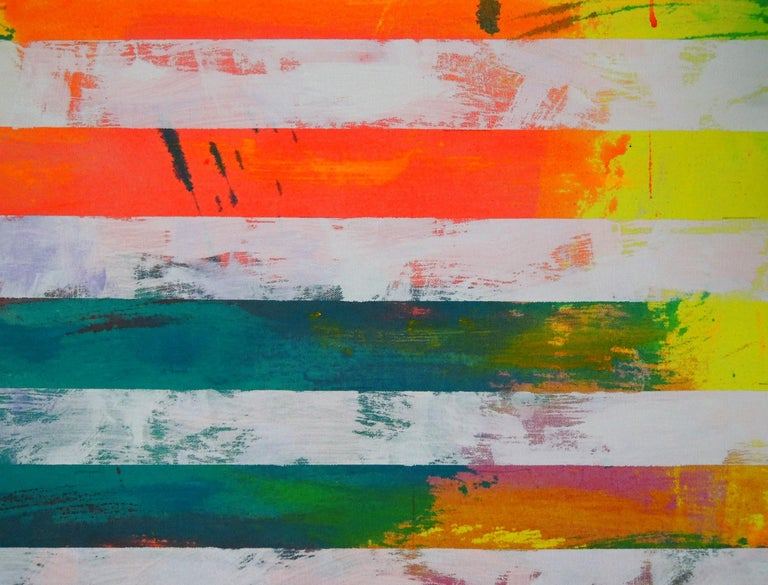 Untitled (Flag)  - Abstract Expressionist Painting by Miljan Suknovic