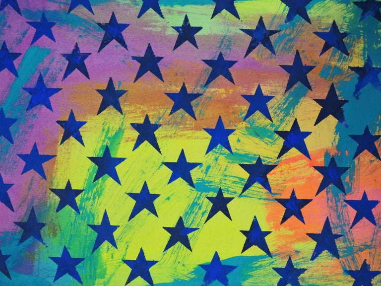 Untitled (Flag II)  - Painting by Miljan Suknovic