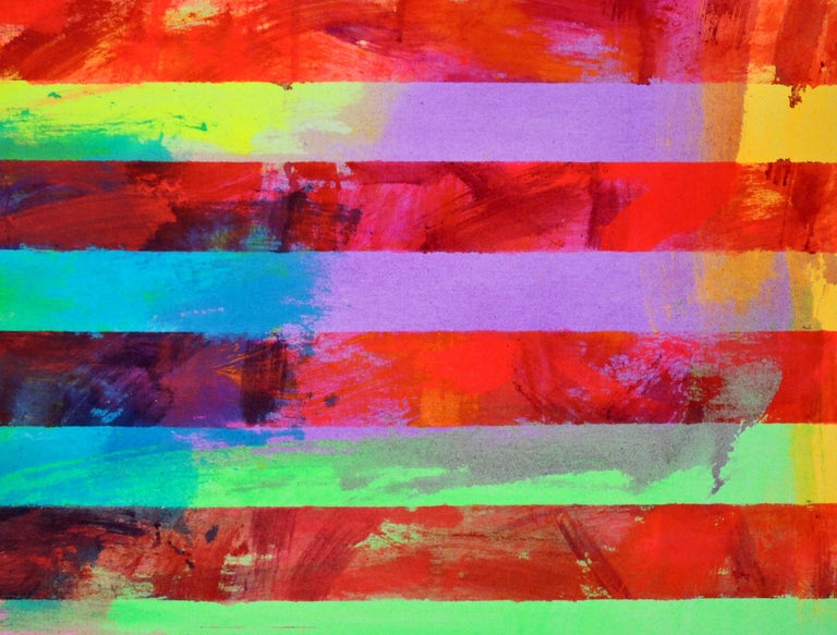 Untitled (Flag II)  - Abstract Expressionist Painting by Miljan Suknovic