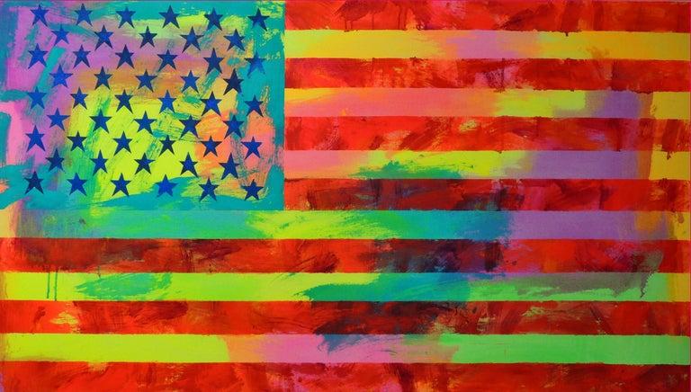 Miljan Suknovic Abstract Painting - Untitled (Flag II)