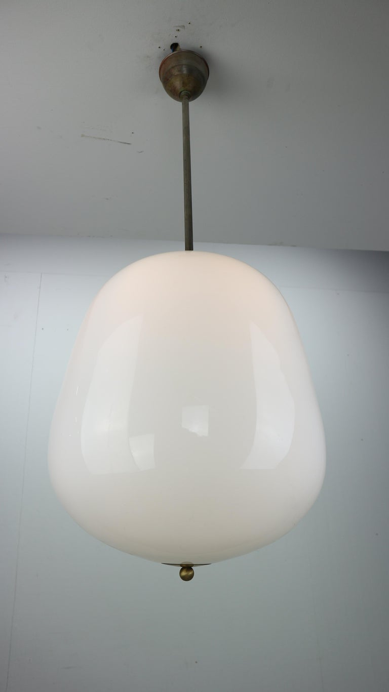 Mid-Century Modern Milk Glass Vintage Pendant from an Old Church, 1950s For Sale
