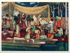 The Gathering by the River, Millard Sheets 1949
