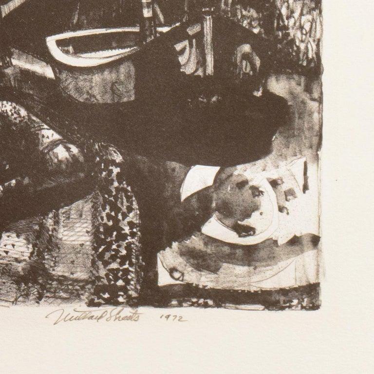 'The Islands', LACMA, Whitney Museum, Mid-century tonalist stone lithograph - American Modern Print by Millard Sheets