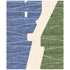 Millenium Bridge Hand-Knotted Wool and Silk Rug 9 x 12ft