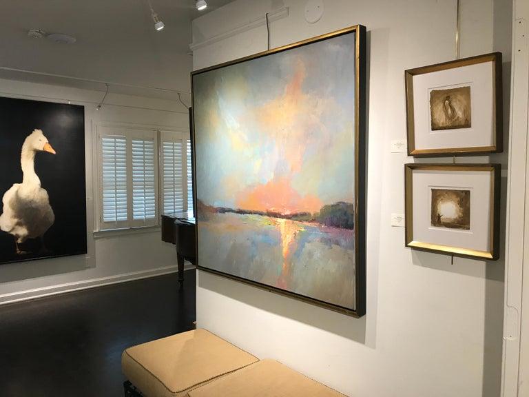 Evening Grace by Millie Gosch, Framed Impressionist Landscape Oil Painting For Sale 9