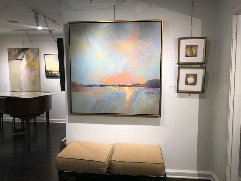 Evening Grace by Millie Gosch, Framed Impressionist Landscape Oil Painting For Sale 1