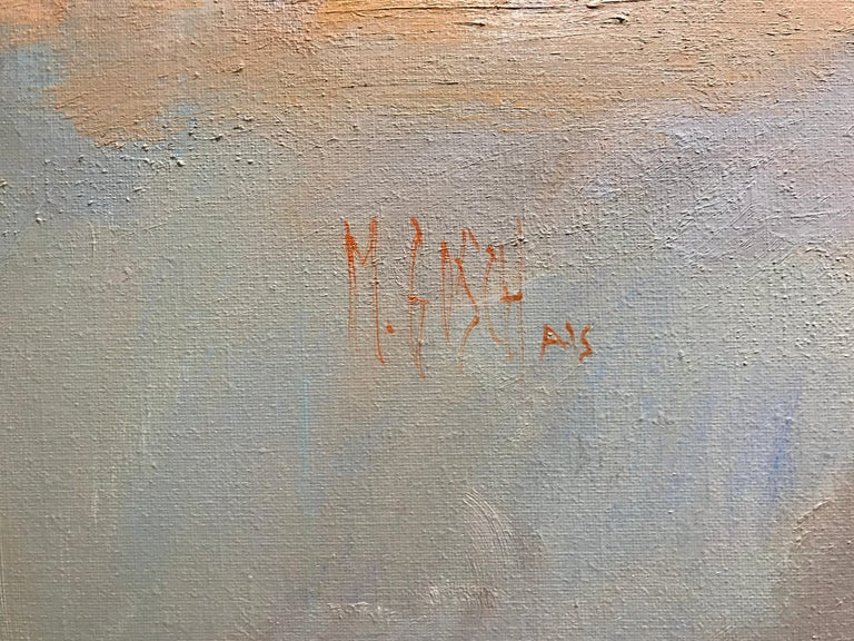 Evening Grace by Millie Gosch, Framed Impressionist Landscape Oil Painting For Sale 2