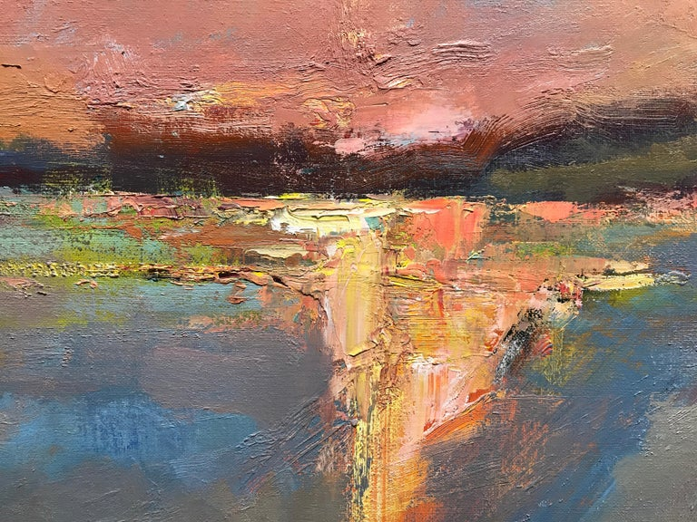 Evening Grace by Millie Gosch, Framed Impressionist Landscape Oil Painting For Sale 3