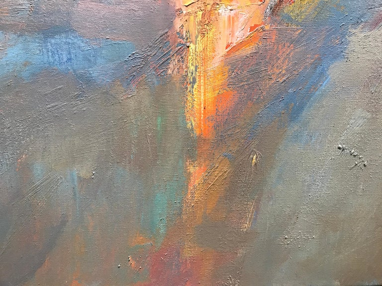 Evening Grace by Millie Gosch, Framed Impressionist Landscape Oil Painting For Sale 4