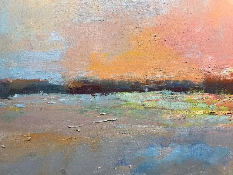 Evening Grace by Millie Gosch, Framed Impressionist Landscape Oil Painting For Sale 5