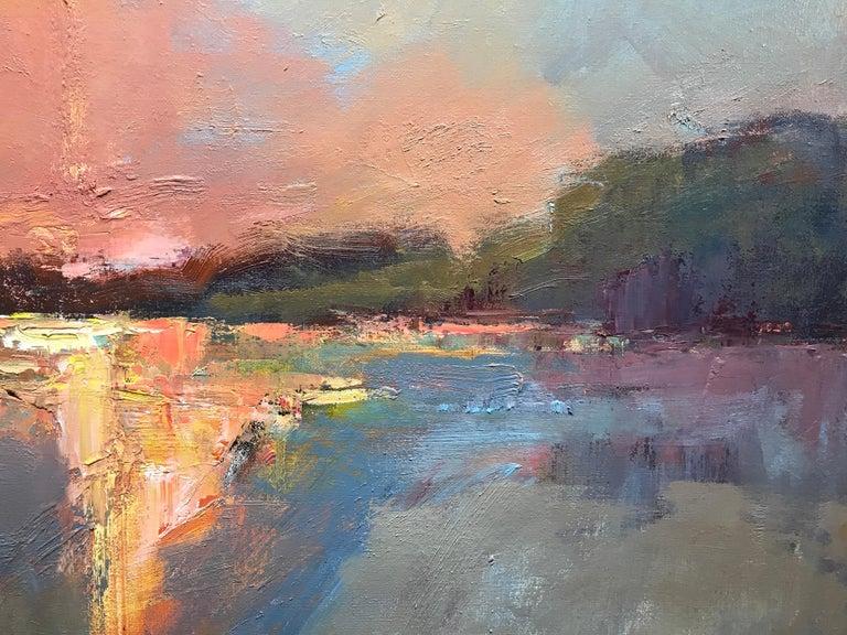 Evening Grace by Millie Gosch, Framed Impressionist Landscape Oil Painting For Sale 6