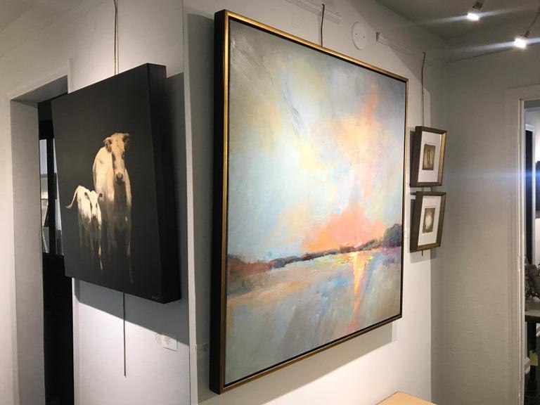 Evening Grace by Millie Gosch, Framed Impressionist Landscape Oil Painting For Sale 7