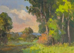 Late Pasture Afternoon by Millie Gosch Impressionist Plein Air Painting