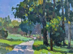Leaving the Farm by Millie Gosch Impressionist Plein Air Landscape Painting