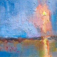 Light Shine by Millie Gosch,  Framed Impressionist Oil on Canvas Painting